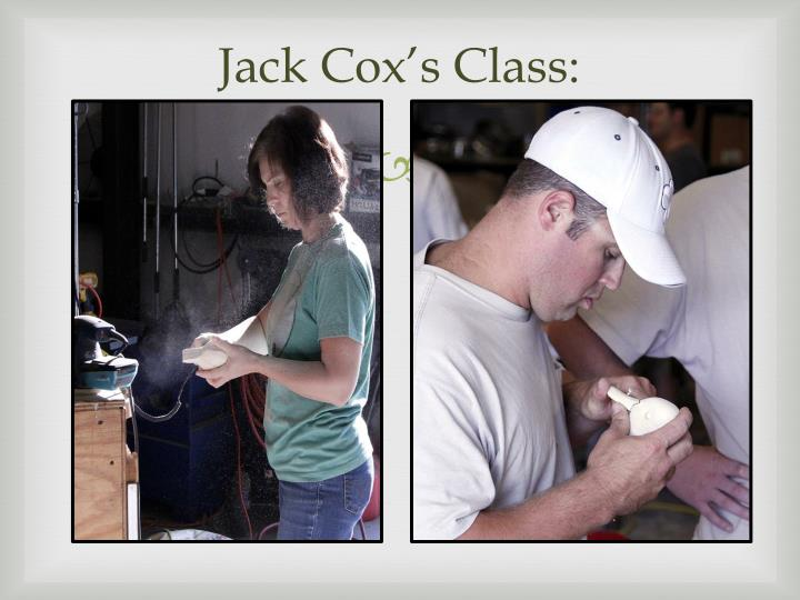 Jack Cox's Class: