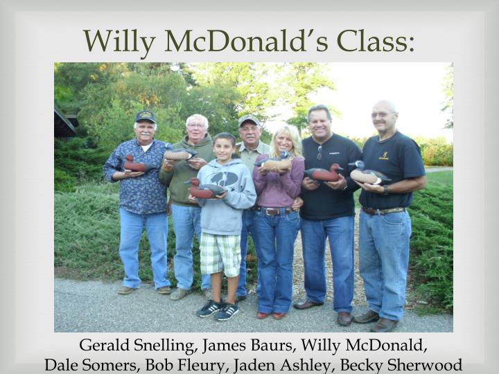 Willy mcdonald s class