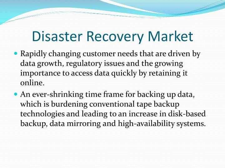 Disaster Recovery Market