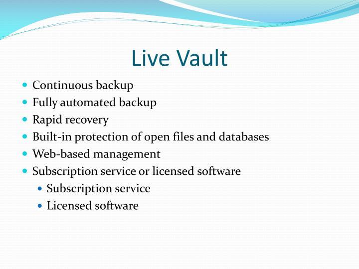 Live Vault
