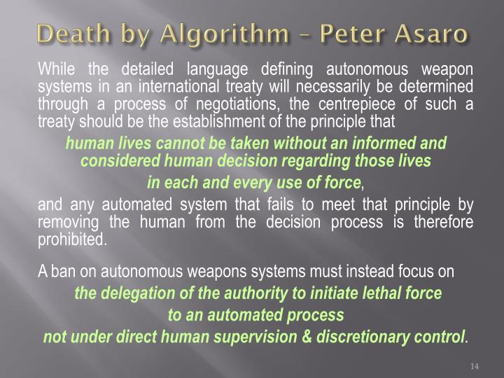Death by Algorithm – Peter Asaro