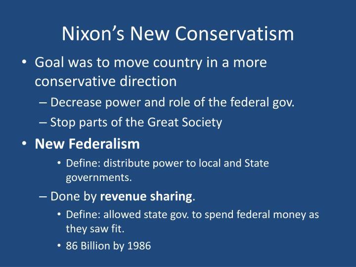 Nixon's New Conservatism