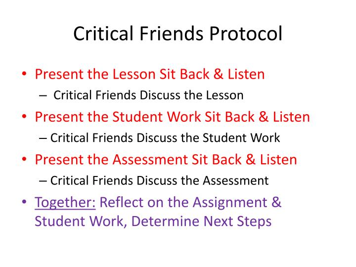 Critical Friends Protocol