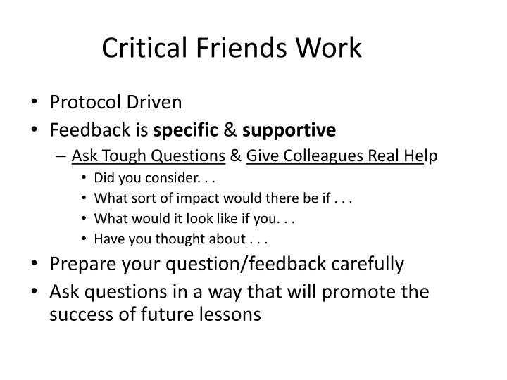 Critical Friends Work