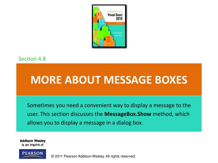 More about message boxes