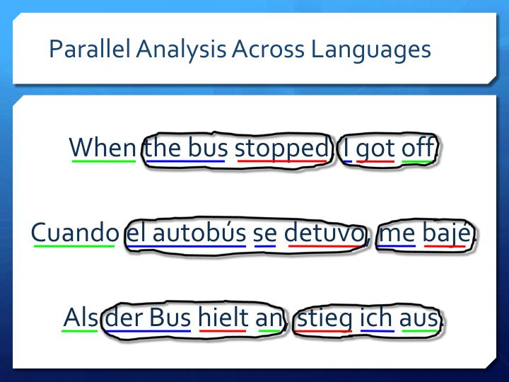 Parallel Analysis Across Languages