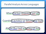 parallel analysis across languages2