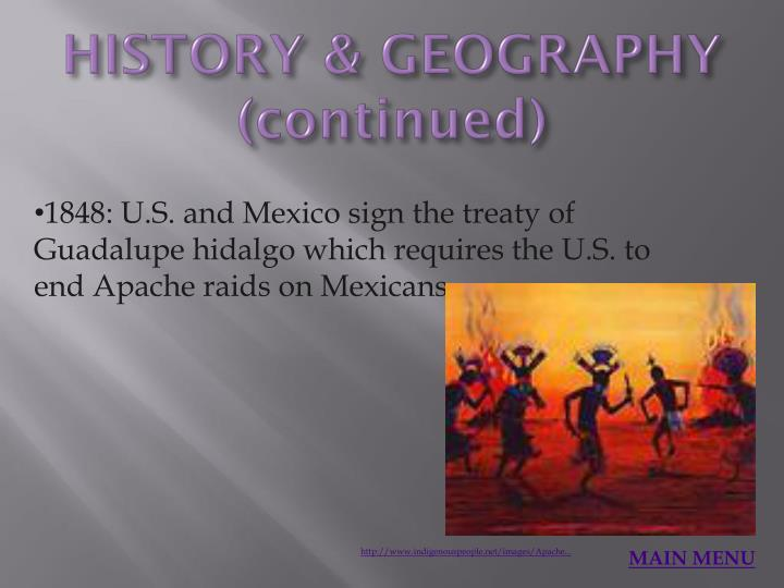 HISTORY & GEOGRAPHY (continued)