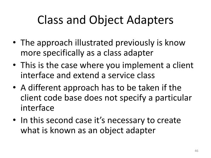 Class and Object Adapters