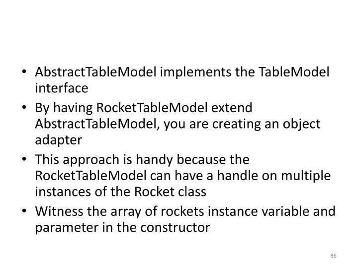 AbstractTableModel