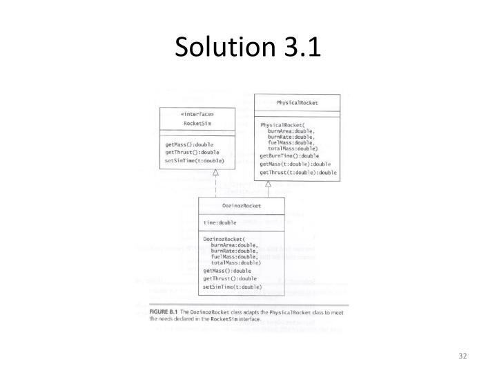 Solution 3.1