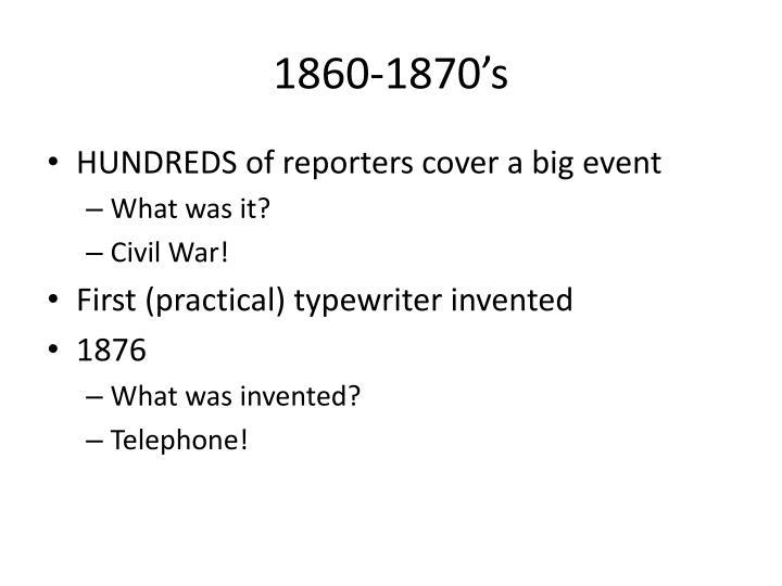 1860-1870's