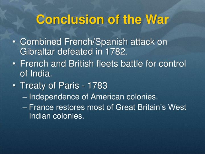 Conclusion of the War