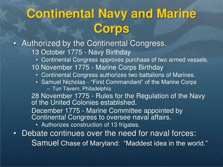 Continental Navy and Marine Corps