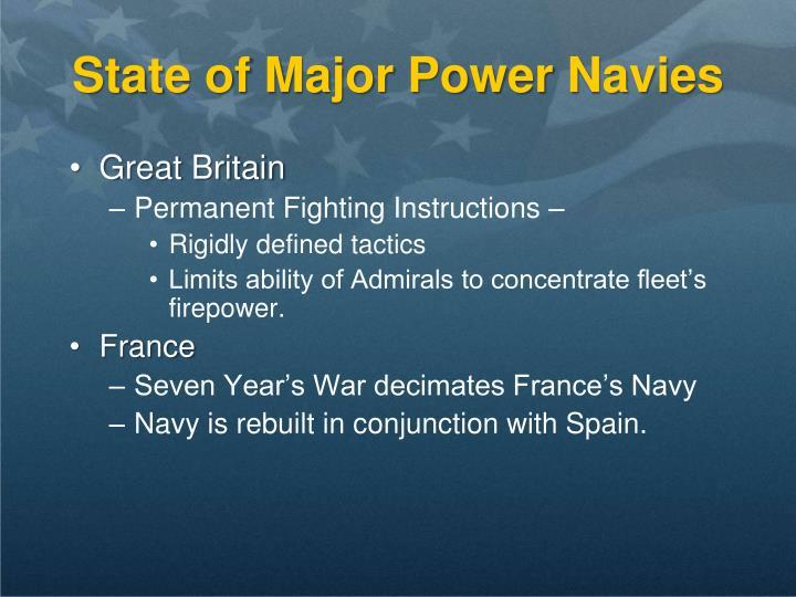 State of Major Power Navies