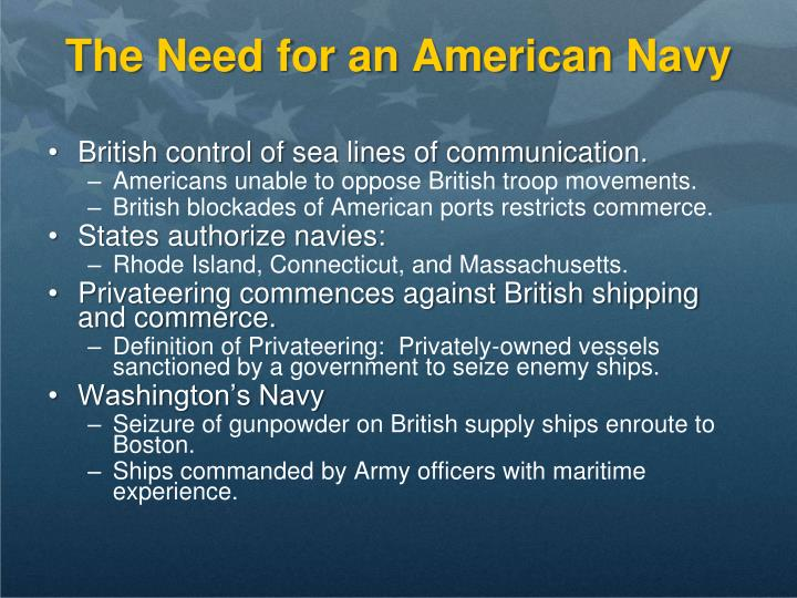 The Need for an American Navy