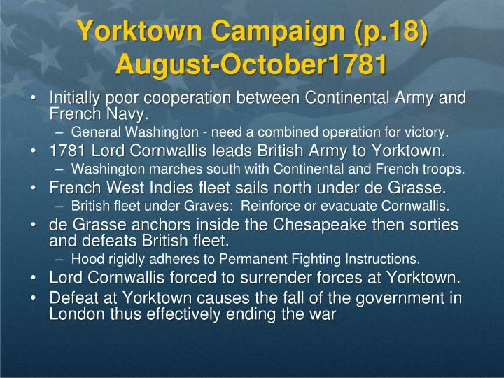 Yorktown Campaign (p.18)