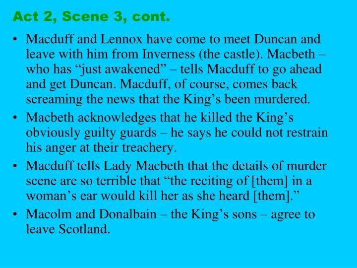 Act 2, Scene 3, cont.