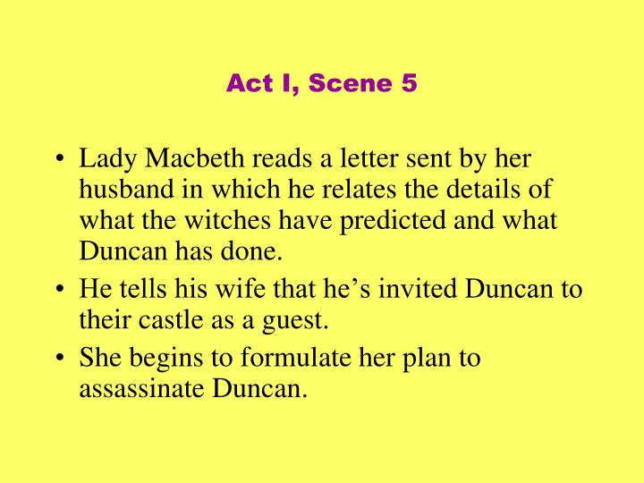 Act I, Scene 5