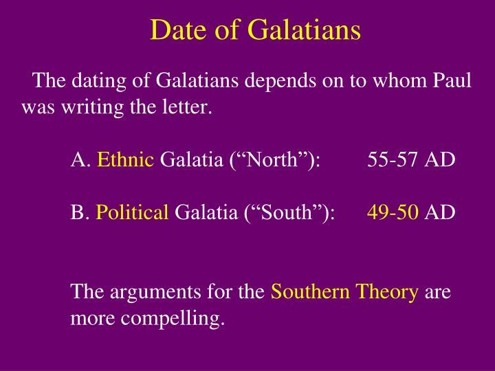 Date of Galatians