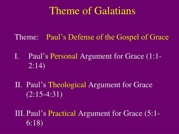 Theme of Galatians