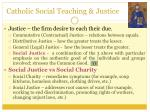 catholic social teaching justice