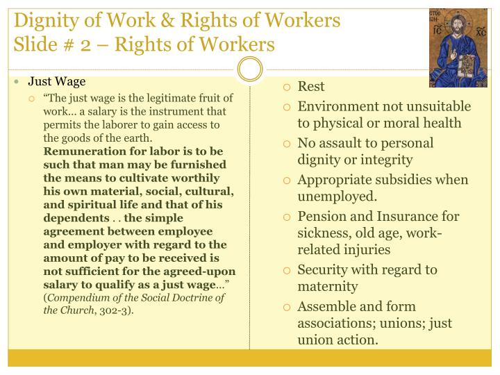 Dignity of Work & Rights of Workers