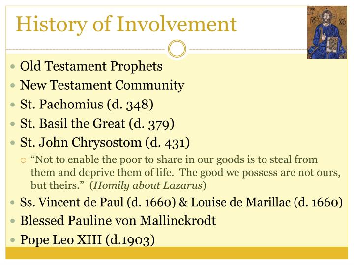 History of Involvement