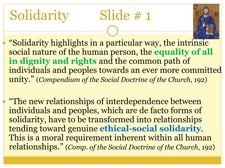 Solidarity     	Slide # 1