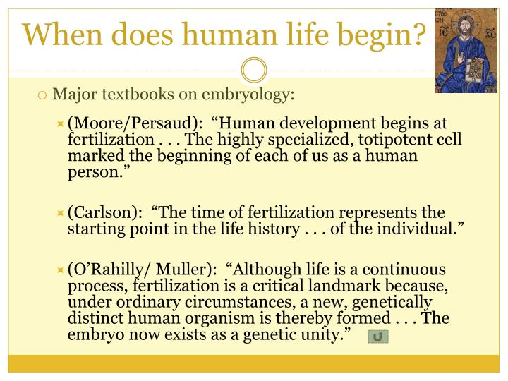 When does human life begin?