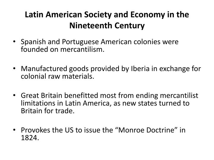 Latin American Society and Economy in the Nineteenth