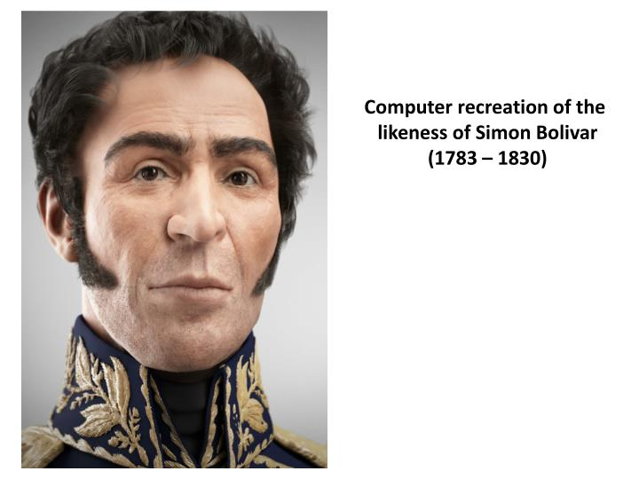 Computer recreation of the