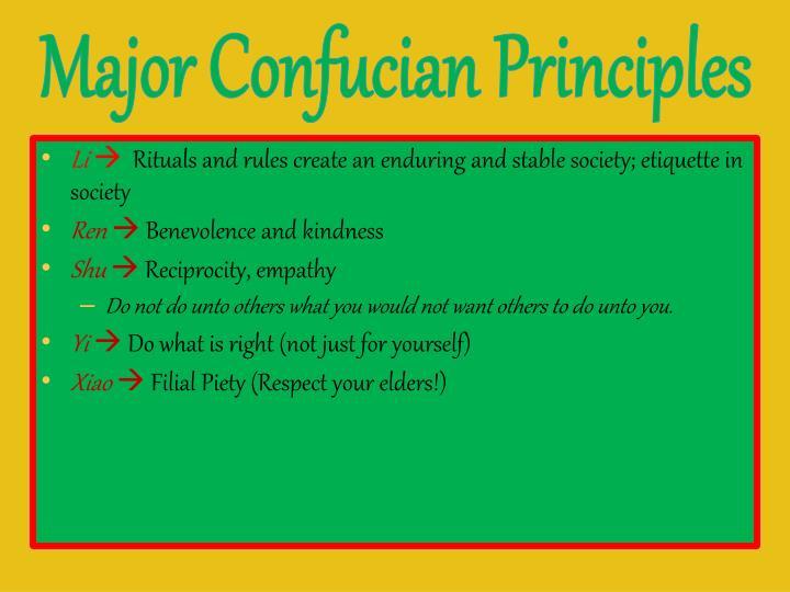 Major Confucian Principles