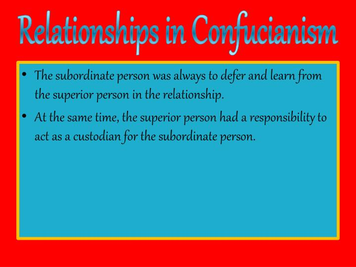 Relationships in Confucianism