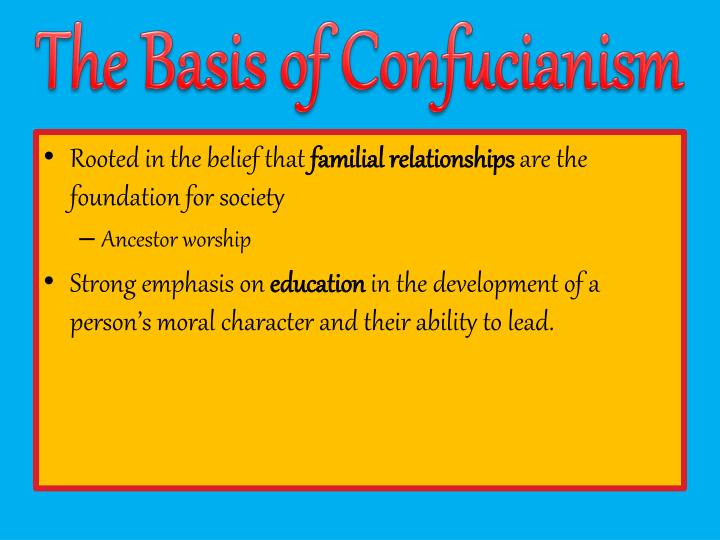 The Basis of Confucianism
