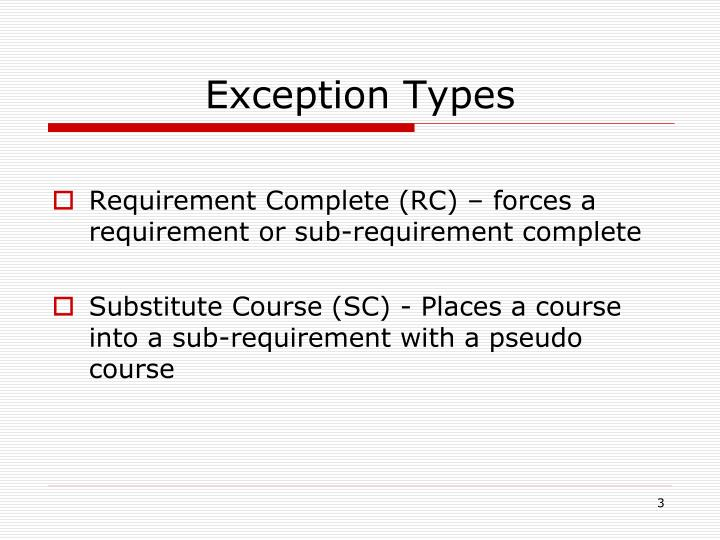 Exception Types