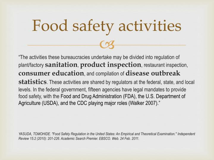 Food safety activities