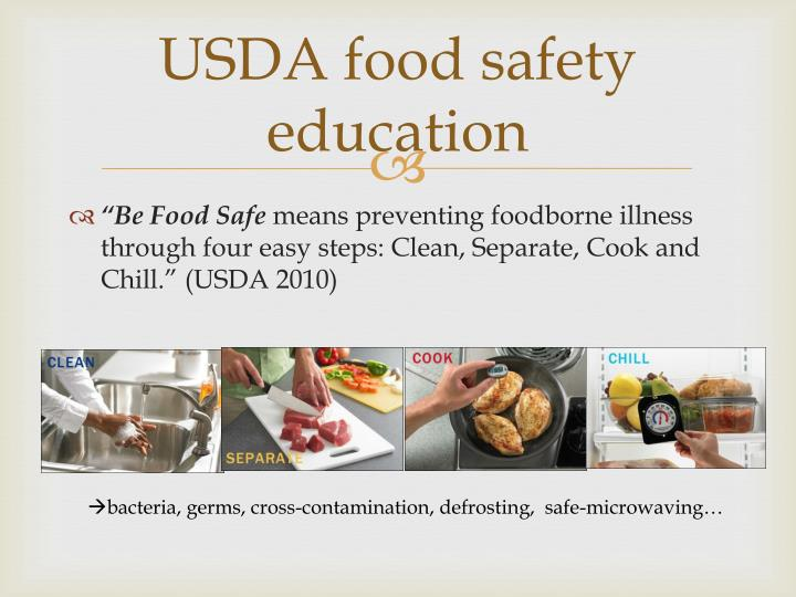 USDA food safety education