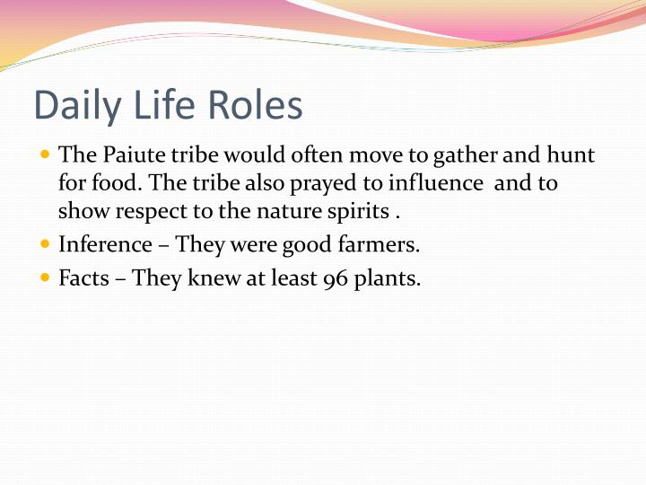 Daily Life Roles