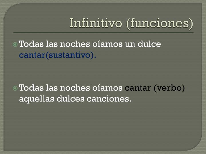 Infinitivo (funciones)