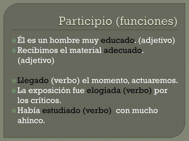 Participio (funciones)