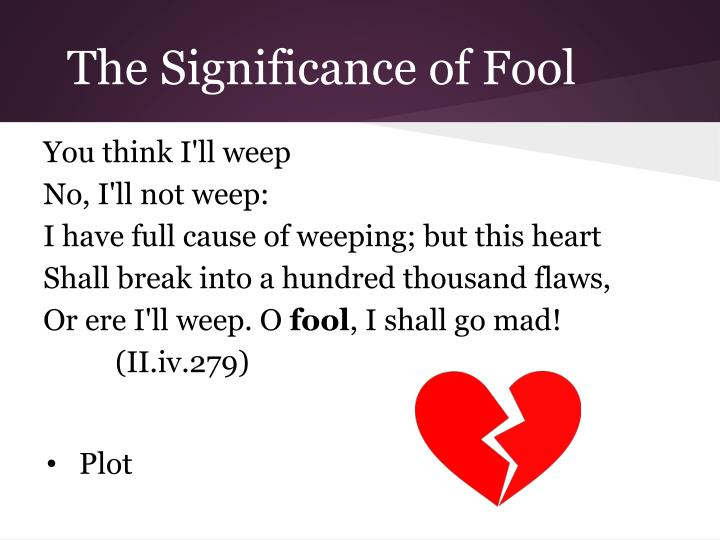 The Significance of Fool