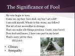 the significance of fool32