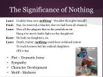 the significance of nothing20
