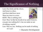 the significance of nothing8
