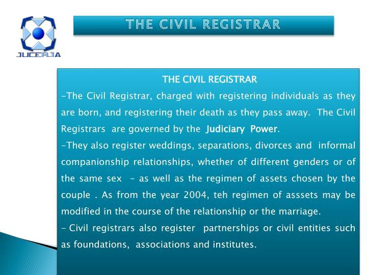 THE CIVIL REGISTRAR