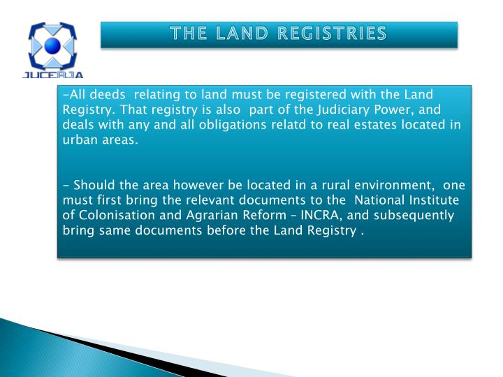 THE LAND REGISTRIES