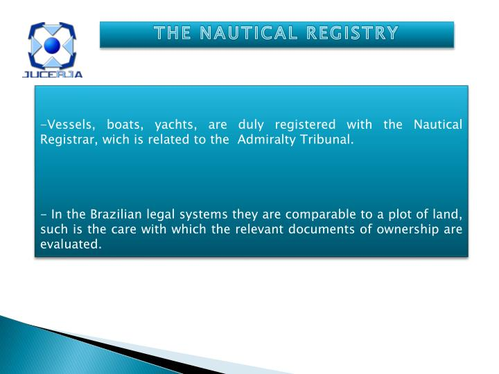 THE NAUTICAL REGISTRY