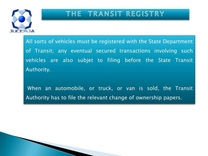 THE  TRANSIT REGISTRY
