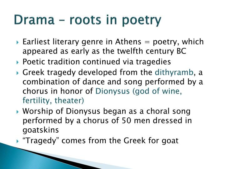 Drama – roots in poetry